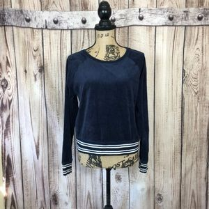 Victoria Secret Navy Blue Long Sleeve Top Medium